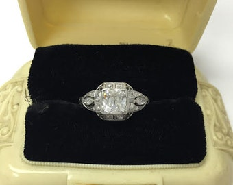 Vintage Cushion Diamond Ring