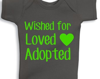 Wished for, loved, adopted - Adoption - Adoption day gift