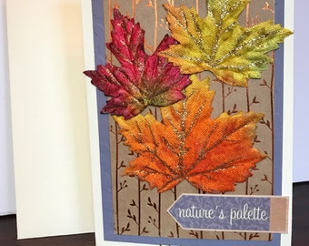 Nature's Palette Fall/Autumn/Thanksgiving card