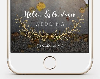Wedding Geofilter - fully customizable Snapchat geofilter, instant delivery