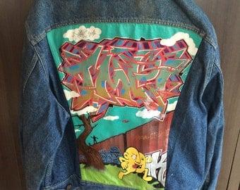 Graffiti Jean jacket
