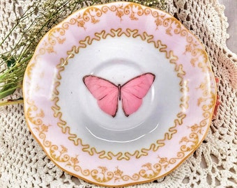 Saucer Butterfly pink