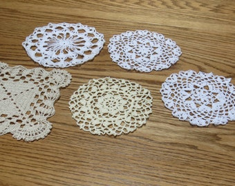 Shells and Squares Doilies