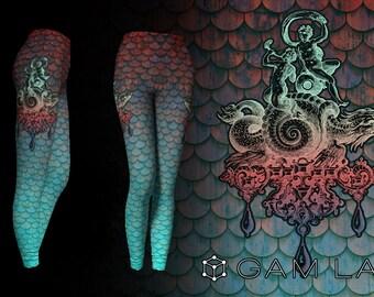 Leviathan - Exclusive Printed Leggings by GamLab