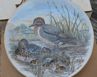Southern Living Gallery collector plate,Game Birds Of The South,Green-Winged Teal,Home decor,Wall Decor,Mancave Decor,Office Decor,