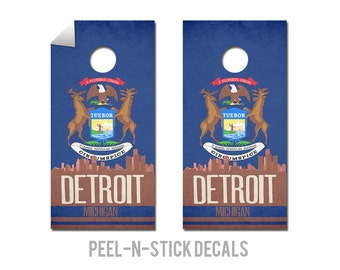 Detroit State Flag Skyline Decals