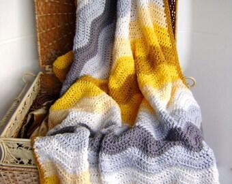 Hand Crocheted - Anastasia's Wedding Blanket