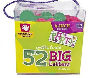 Creative Hands by Fibre-Craft 52-Pack Foam Stickers, 4-Inch, Dotty Letters New