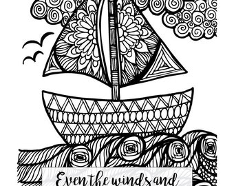 matthew 8 coloring pages - photo#20