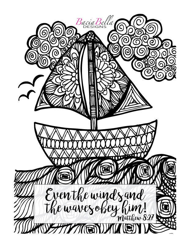 matthew 8 coloring pages - photo#6