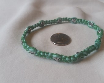 Teal Friendship Beaded Bracelet