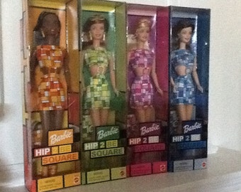 Hip 2 Be Square Barbies 4 dolls