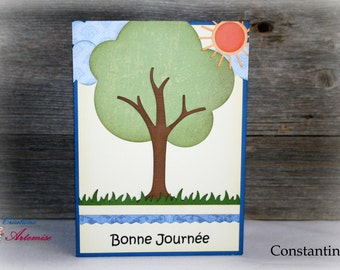 Card birthday or other occasions / map Constantine