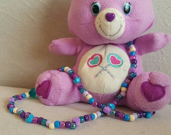 Care Bear Plush Kandi Necklace
