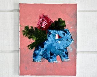 Ivysaur Pokémon Oil Painting (Original)