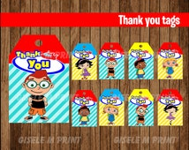 Little Einsteins Thank You tags, Printable Little Einsteins gift tags, Little Einsteins party Thank You tags instant download