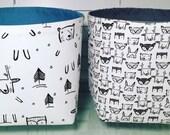 Fabric storage bins / Storage boxes / Toy storage / Diaper caddy / Nappy caddy