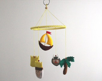 Where The Wild Things Are Mobile Max Ship Crown Monster Kid Felt Nursery
