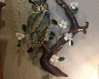 Bovano of Cheshire Owl sculpture