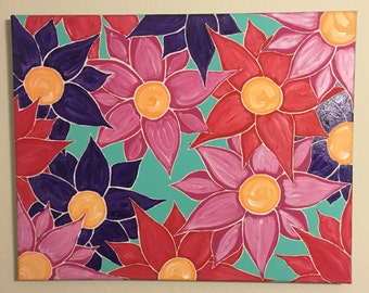 Cluster of Flowers Painting