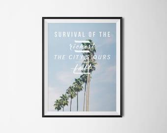 New Americana Halsey Lyrics Typography Art Print Digital Poster