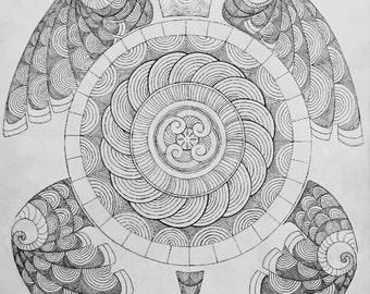Good Turtle Geometric Turtle Print