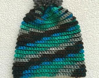 Crochet Pom Beanie