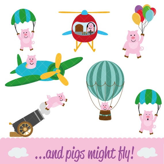 And Pigs Might Fly! Clipart Pack