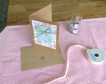 Vintage-Style Handmade Greetings Card
