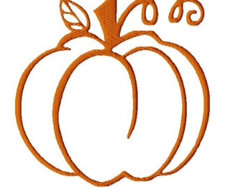 Thanksgiving Pumpkin Embroidery Design, 3 Sizes, Custom Size Free Request, 7 Formats