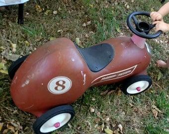 Vintage Radio Flyer - Ride On Roadster - Radio Flyer - Ride On Scooter - Radio Flyer Number 8 Roadster