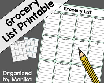 Grocery Shopping Printable