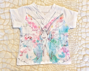V-neck Tee - Butterfly