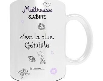 Mug customize awesome teacher