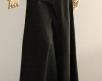 Jean-Louis Scherrer : black wide silk pants, size S, Vintage 80s