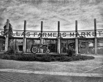 "Dallas, Texas - ""BW Dallas Farmers Market""-(image is horizontal)"