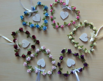 Wire Floral Hearts