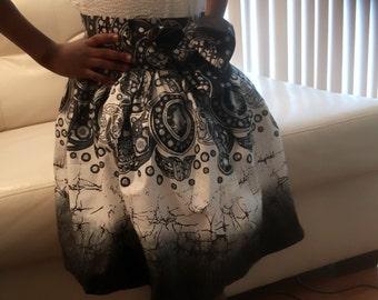Ankara print mini skirt