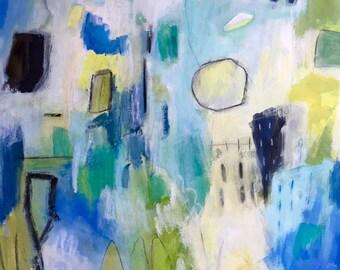 Abstract on Paper, Original Art, Mixed Media