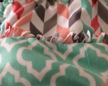Cute Fleece tie blanket
