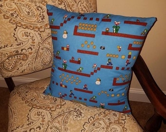 "Nintendo Classic Super Mario Brothers 16"" x 16"" Decorative Throw Pillow (with Insert)"