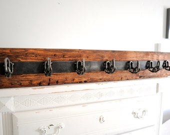 rustic mounted coat hanger