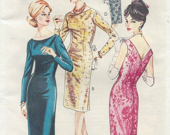 1966 Vintage Sewing Pattern B38 DRESS (R942)  Style 1425