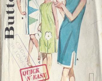 1960s Vintage Sewing Pattern B34 DRESS (R981)  Butterick 2705