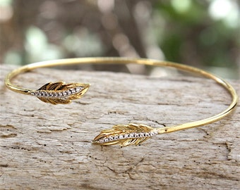 Bracelet gold plated pen 3 microns and cubic zirconia ring