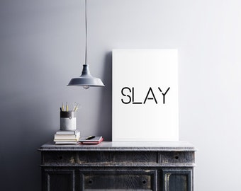 Beyonce Formation Slay, typography art,print home decor song lyrics print,Beyoncé Quote Girl Room Decor I woke up like this Beyonce Queen B