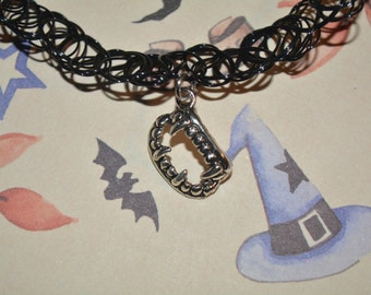 Vampire Fang Necklace Choker Halloween necklace Halloween Choker Gothic Jewelry vampire Choker Halloween Choker Fang Choker