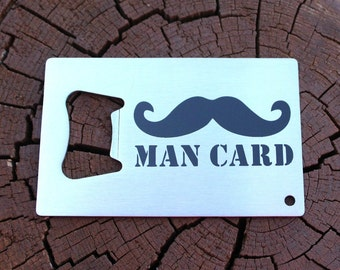 Beard or Mustache Bottle Opener