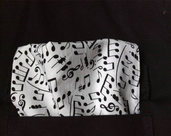 Musical Notes Pocket Square, White Pocket Sq, Concert Accessories, Matching Accessories, Music Lovers Pocket Square