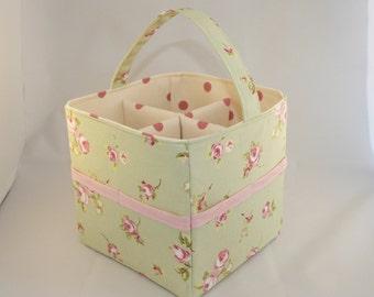 Green Floral Craft Caddy